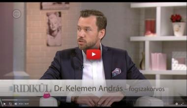 Dr.  Kelemen András a Duna TV Ridikül című műsorában